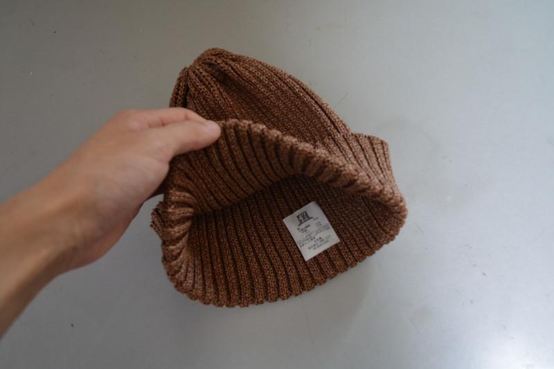 新鮮なブラウン。色の選択肢が多いメンズサマーニット帽2